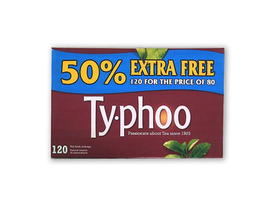 Typhoo Tea 80 and 50% Free = 120 teabags!!!!