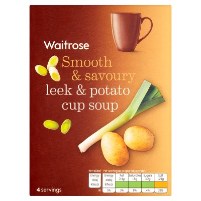 Waitrose Smooth & Savory Leek & Potato Cup a Soup (4 x 25g)
