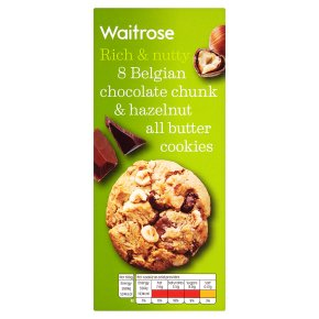 Copy of Waitrose 8 Belgian Chocolate & Hazelnut Cookies 200g
