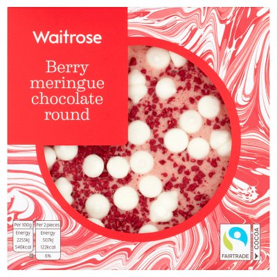 Waitrose Berry Meringue Chocolate Rounds 90g