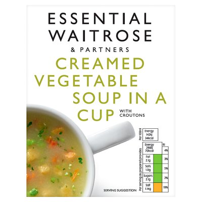 Waitrose Creamed Vegetable Cup a Soup (4 x 18g)