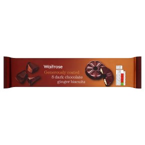Waitrose 8 Dark Chocolate Ginger Biscuits 200g