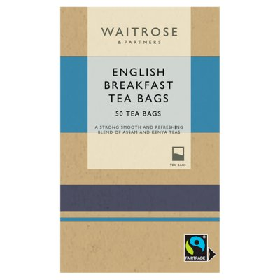 Waitrose English Breakfast Teabags 50ct