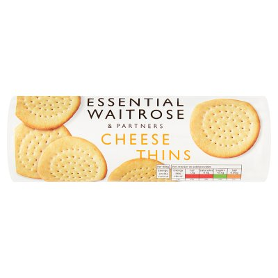 Waitrose Essential Cheese Thins 150g
