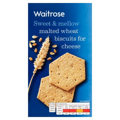 Waitrose Malted Wheat Biscuits for Cheese 150g