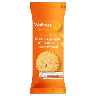 Waitrose Scottish Stem Ginger Shortbread 180g