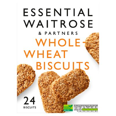 Waitrose Essential Wholewheat Biscuits Cereal 24