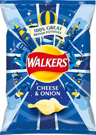 Walkers Crisps Cheese & Onion 32.5g x 6