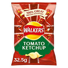 Walkers Tomato Ketchup Crisps x 6