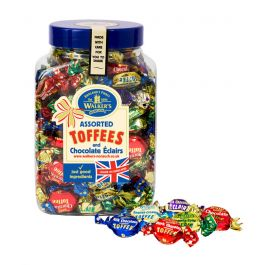 Walker's Nonsuch Assorted Toffee & Chocolate Eclairs Jar 1.25kg -