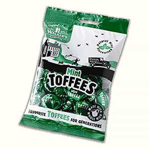 Walkers Nonsuch Mint Toffees Bag 150g