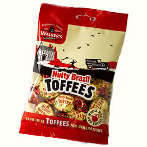 Walkers Nonsuch Nutty Brazil Toffee Bag 150g