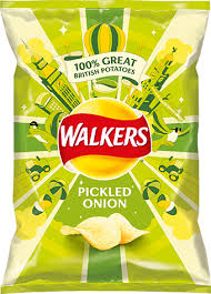 Walkers Crisps Pickled Onion 32.5g x 6
