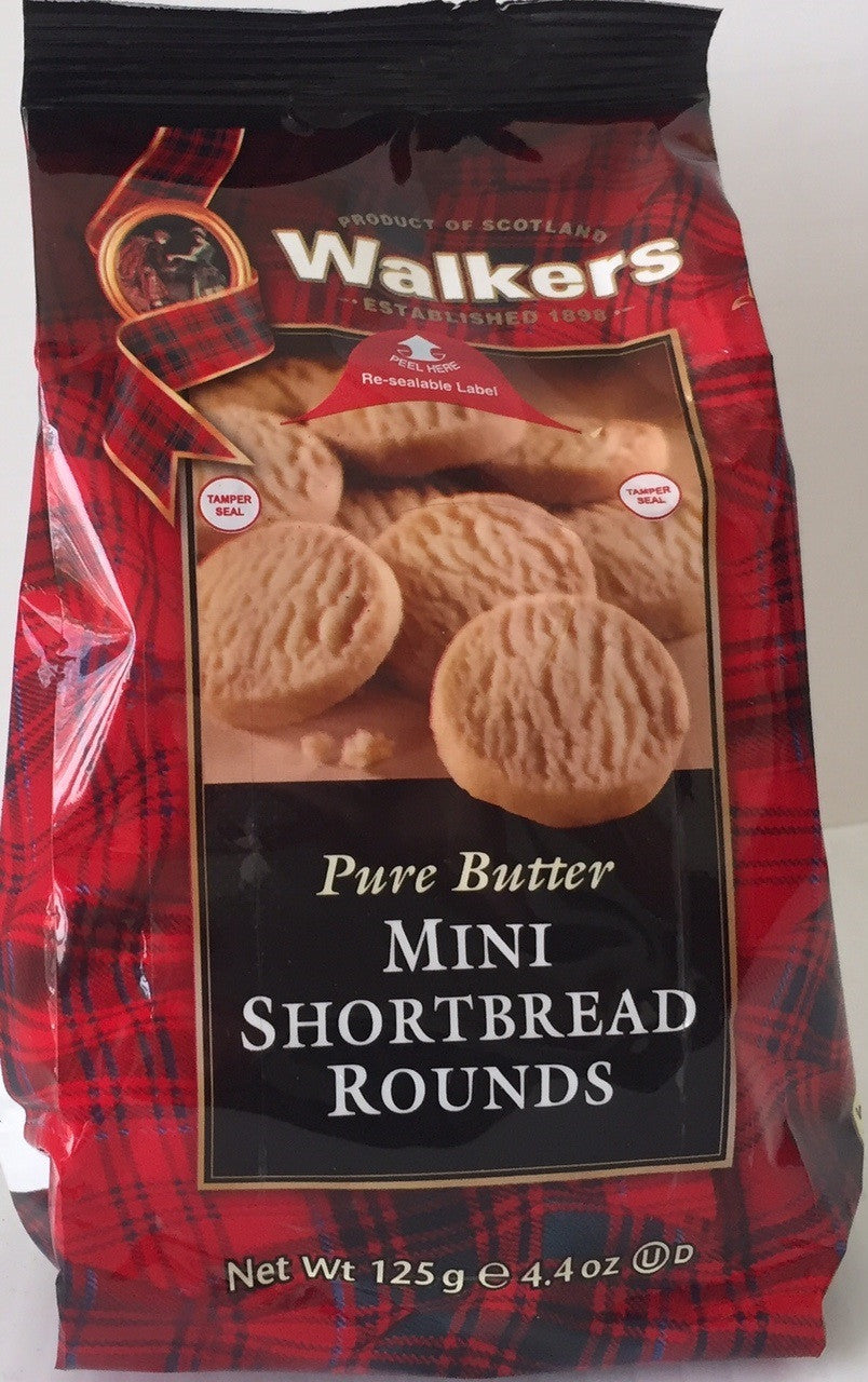 Walkers Mini Shortbread Rounds Bag 4.4oz  #1767