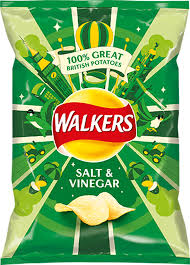 Walkers Crisps Salt &  Vinegar  32.5g x 6 packs