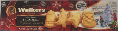 Walkers Shortbread Festive Shapes Box 6.2oz # 1458 - Christmas