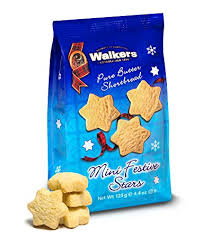 Walkers Shortbread Mini Hanukkah Stars Bag 4.4oz # 1814 - Christmas