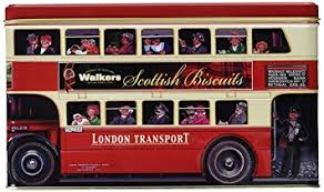 Walkers Shortbread London Double Decker Bus Tin 15.8oz # 5483