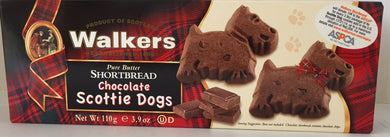 Walkers Chocolate Scottie Dog Shortbread Box  #1804