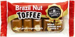 Walkers Nonsuch Brazil Nut Toffee Slab Bar 100g