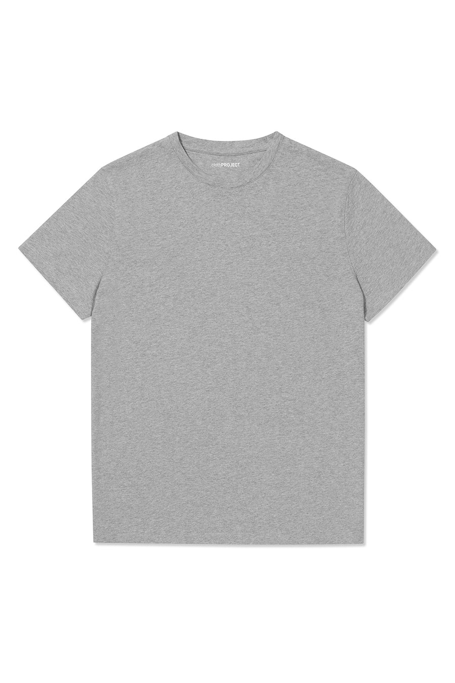 clothPROJECT men's grey ethical sustainable designer 100% cotton t-shirt with free delivery