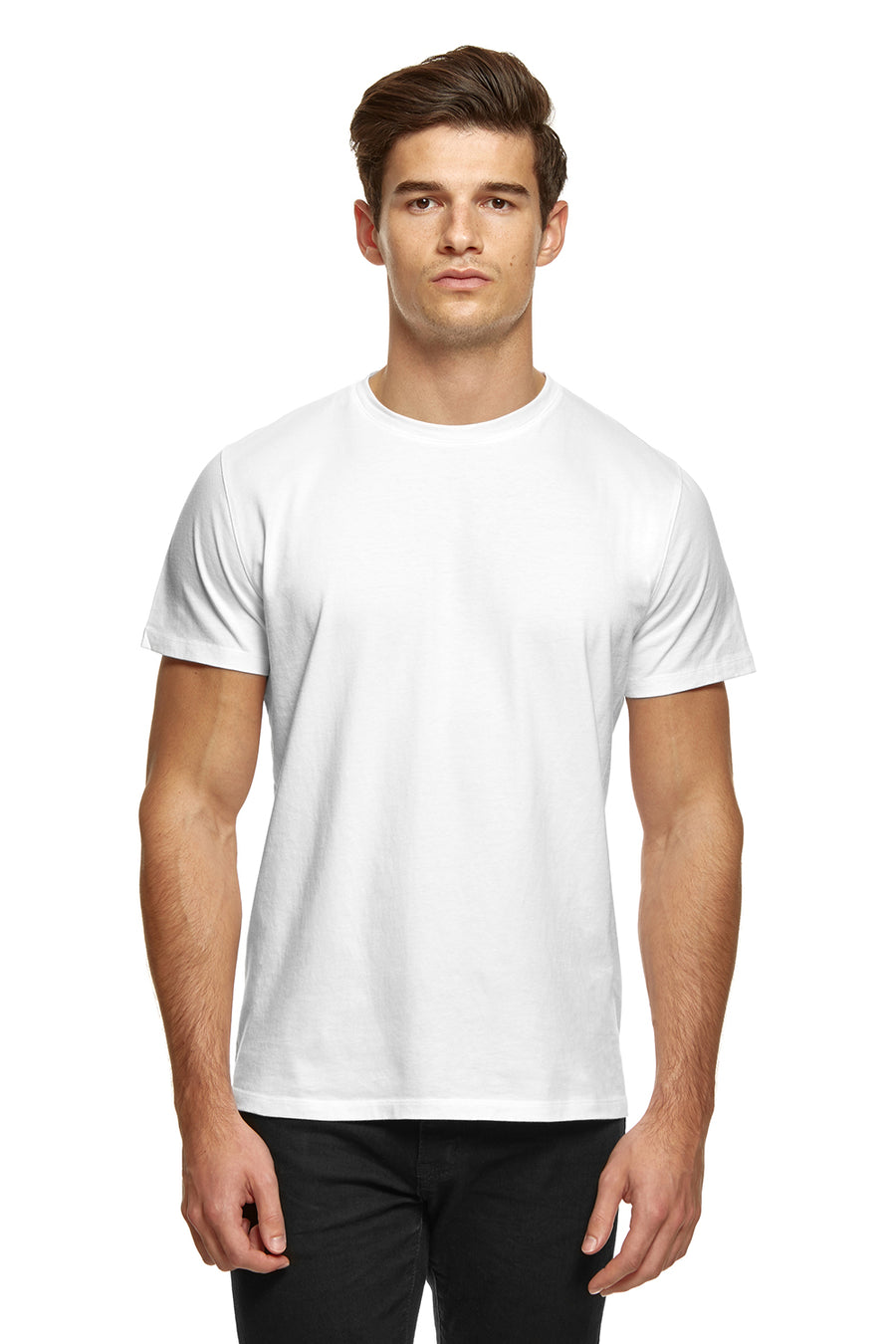 clothPROJECT men's white ethical sustainable luxury 100% cotton t-shirt with free delivery