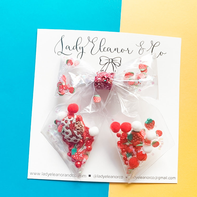 Strawberry shortcake Bow