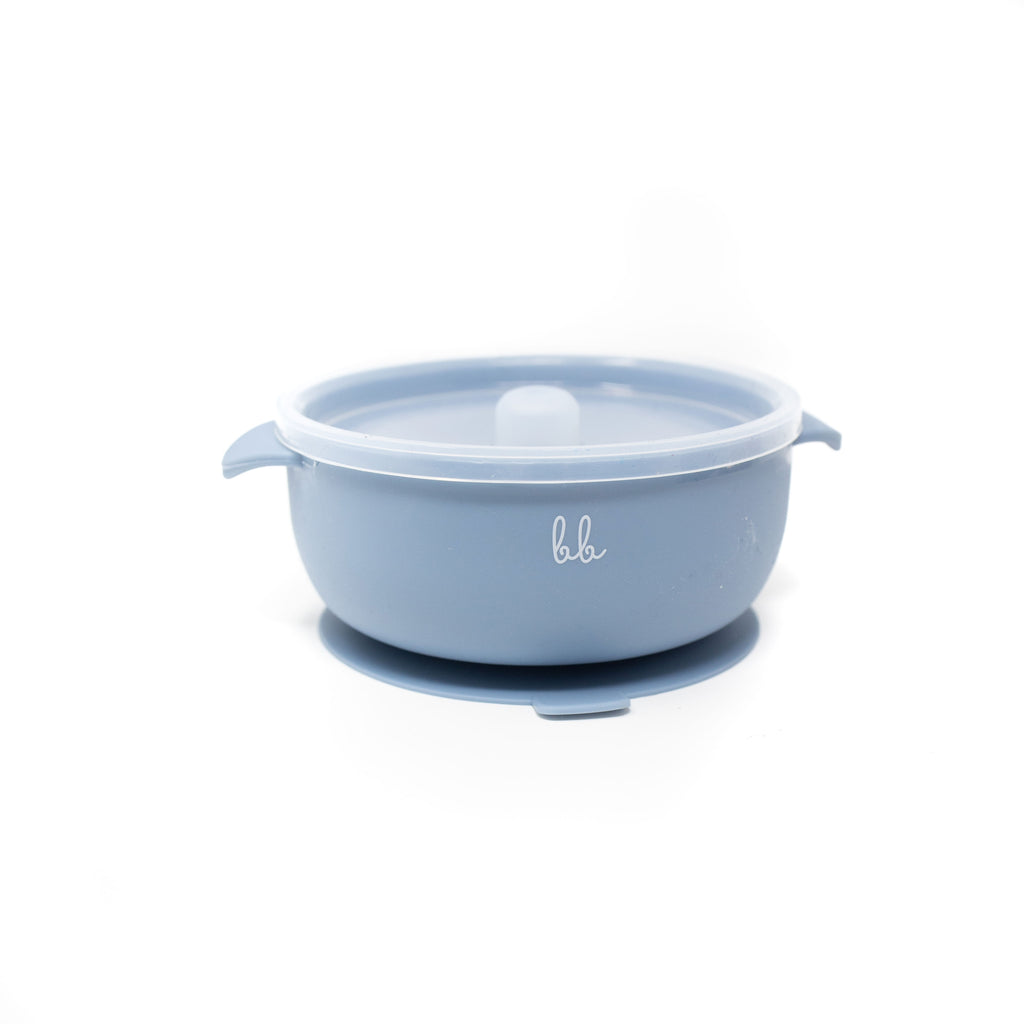 Baby Bar & Co Silicone Bowls - Slate -  Little Pair