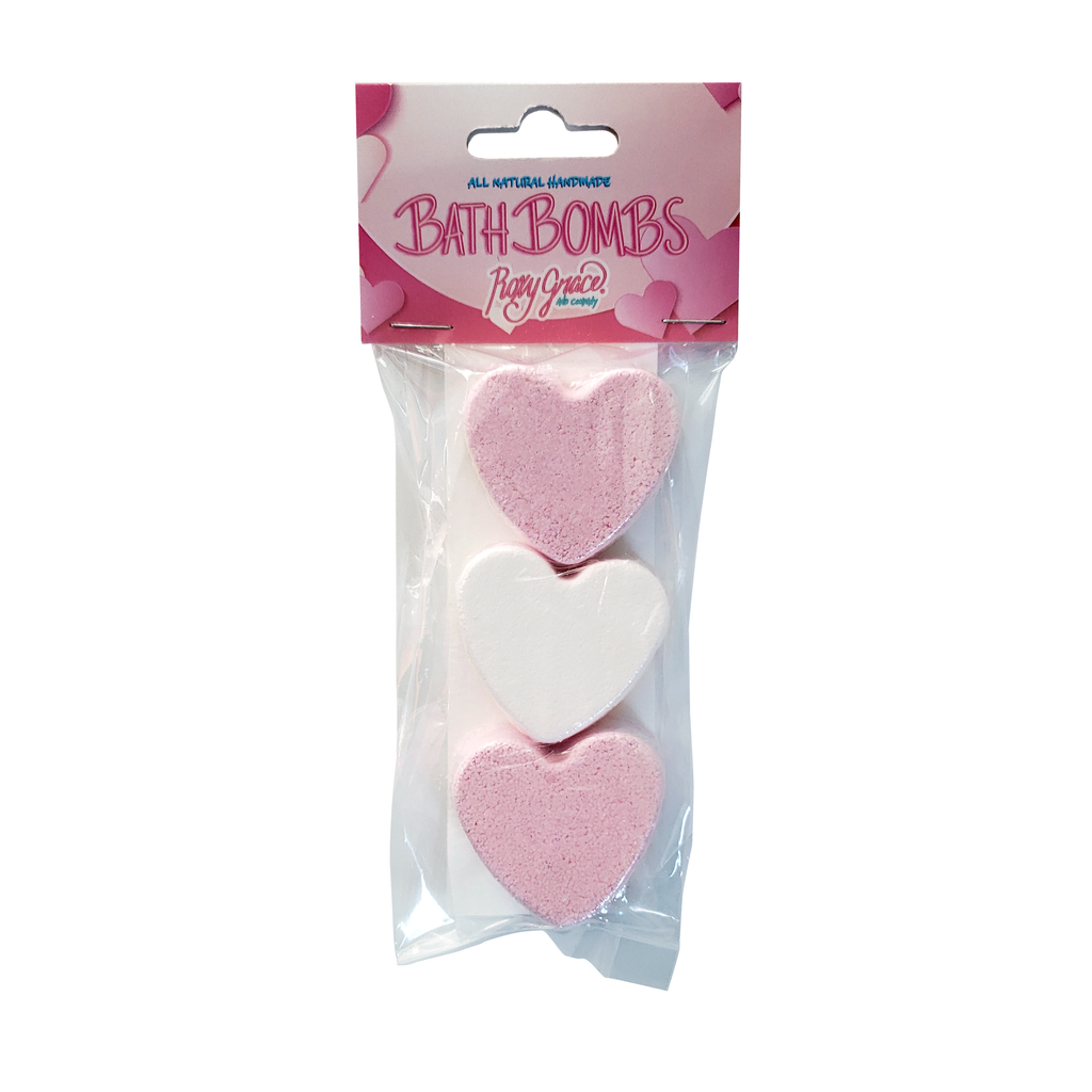 Mini Heart 3 Pack Bath bomb