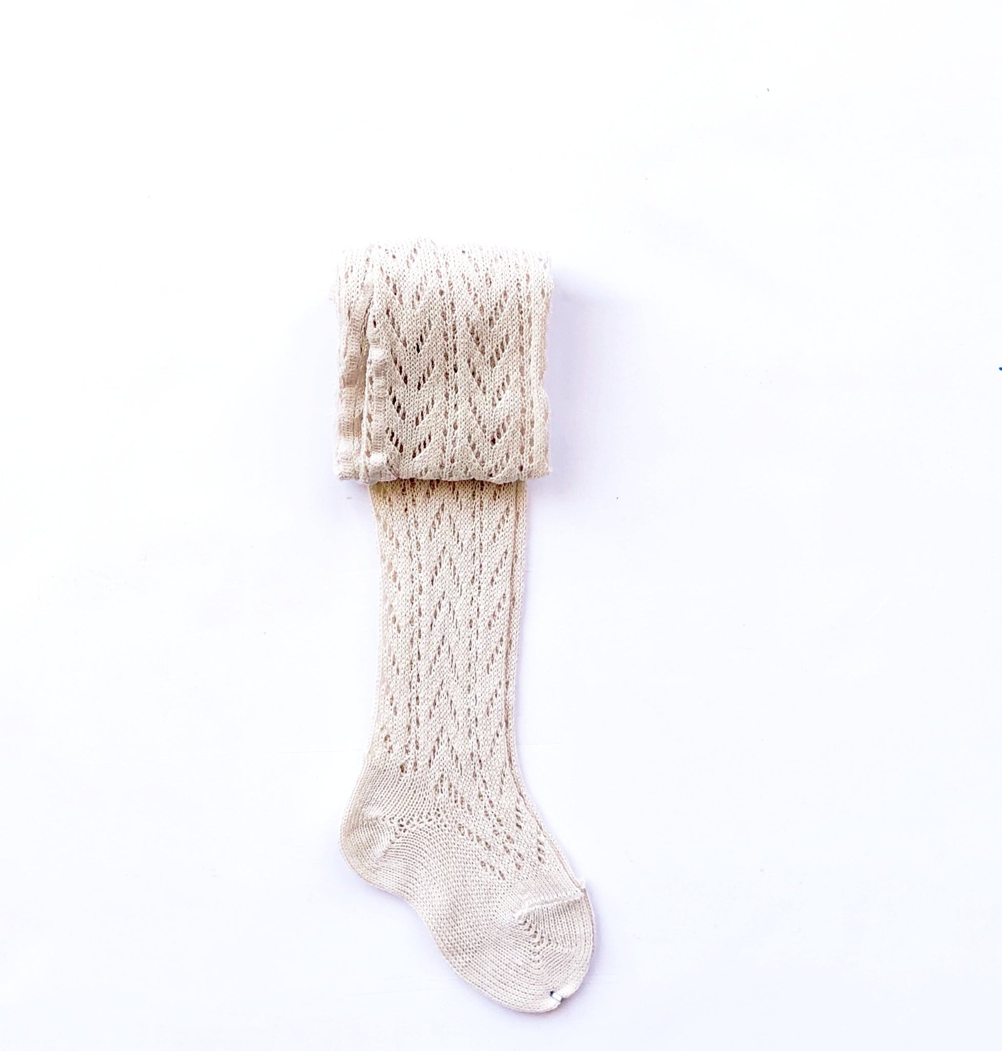 Linen Folk Crochet Tights