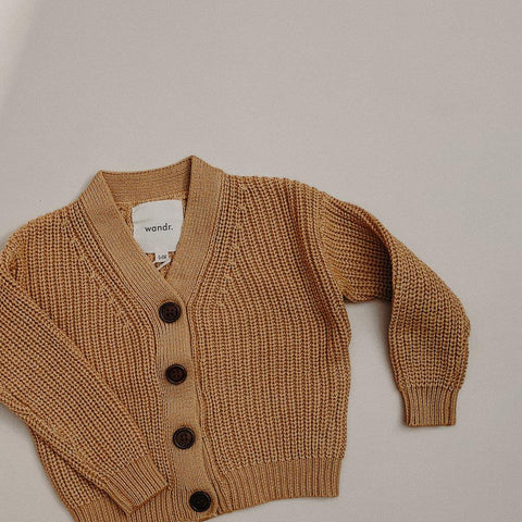 Adventure Awaits Knit Cardigan -Golden Sun