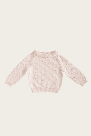 Raspberry Fleck Dotty Knit