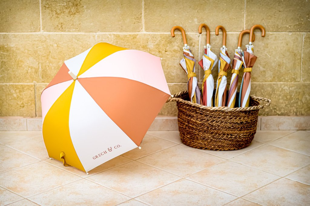 Grech & Co. CHILDREN'S SUSTAINABLE UMBRELLA - SHELL -  Little Pair
