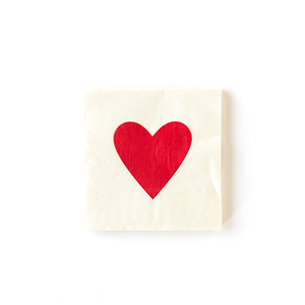 VALENTINE HEART NAPKINS -  Little Pair