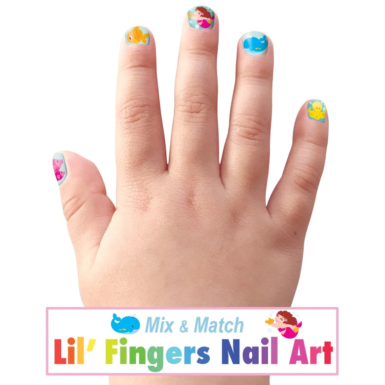 Lil' Fingers Nail Art- Mermaids & Friends -  Little Pair