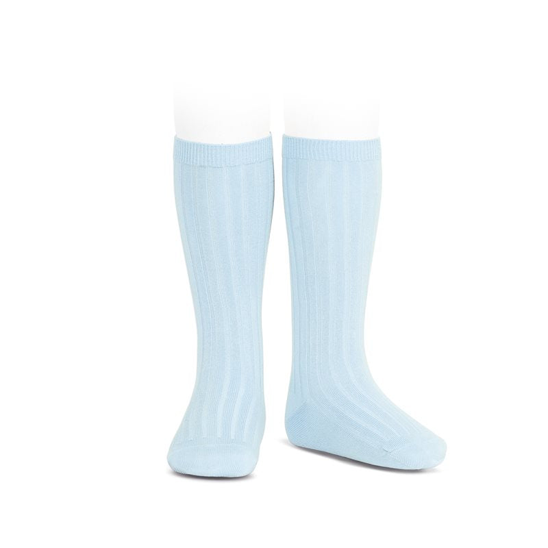 Light Blue Knee Socks