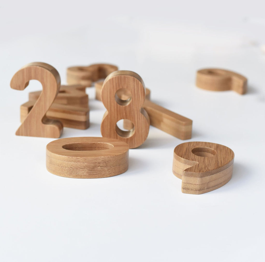 Wee Gallery - Bamboo Numbers -  Little Pair