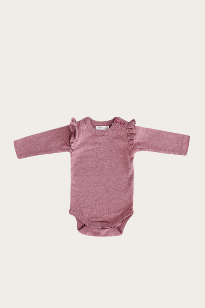 FRILL BODYSUIT L/S - BERRY FIZZ -  Little Pair