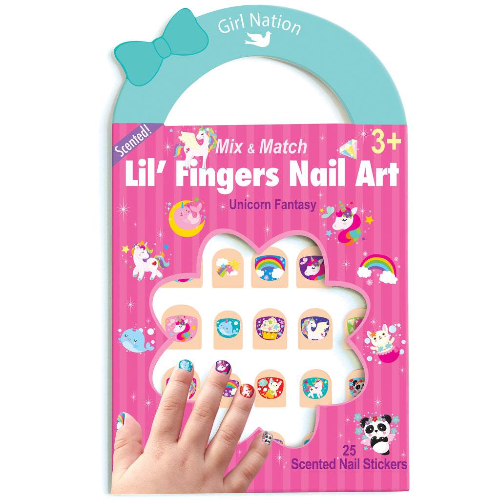 Lil' Fingers Nail Art- Unicorn Fantasy -  Little Pair