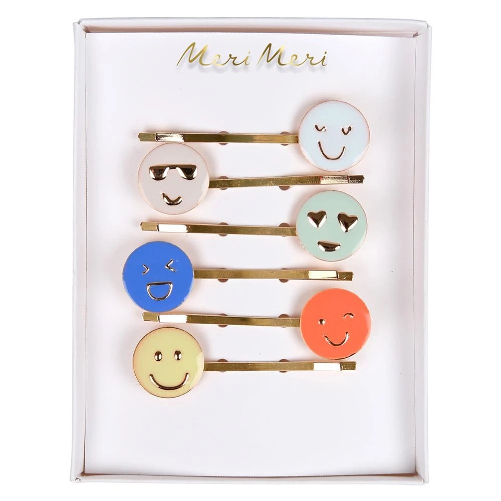 meri meri - Emoji Enamel Hair Slides -  Little Pair
