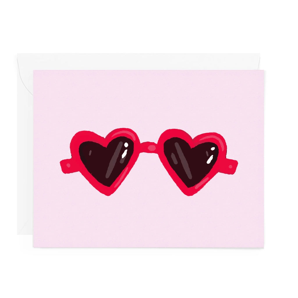 Heart Sunglasses Greeting Card -  Little Pair