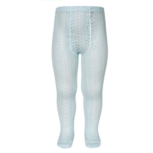 Aqua Folk Crochet Tights