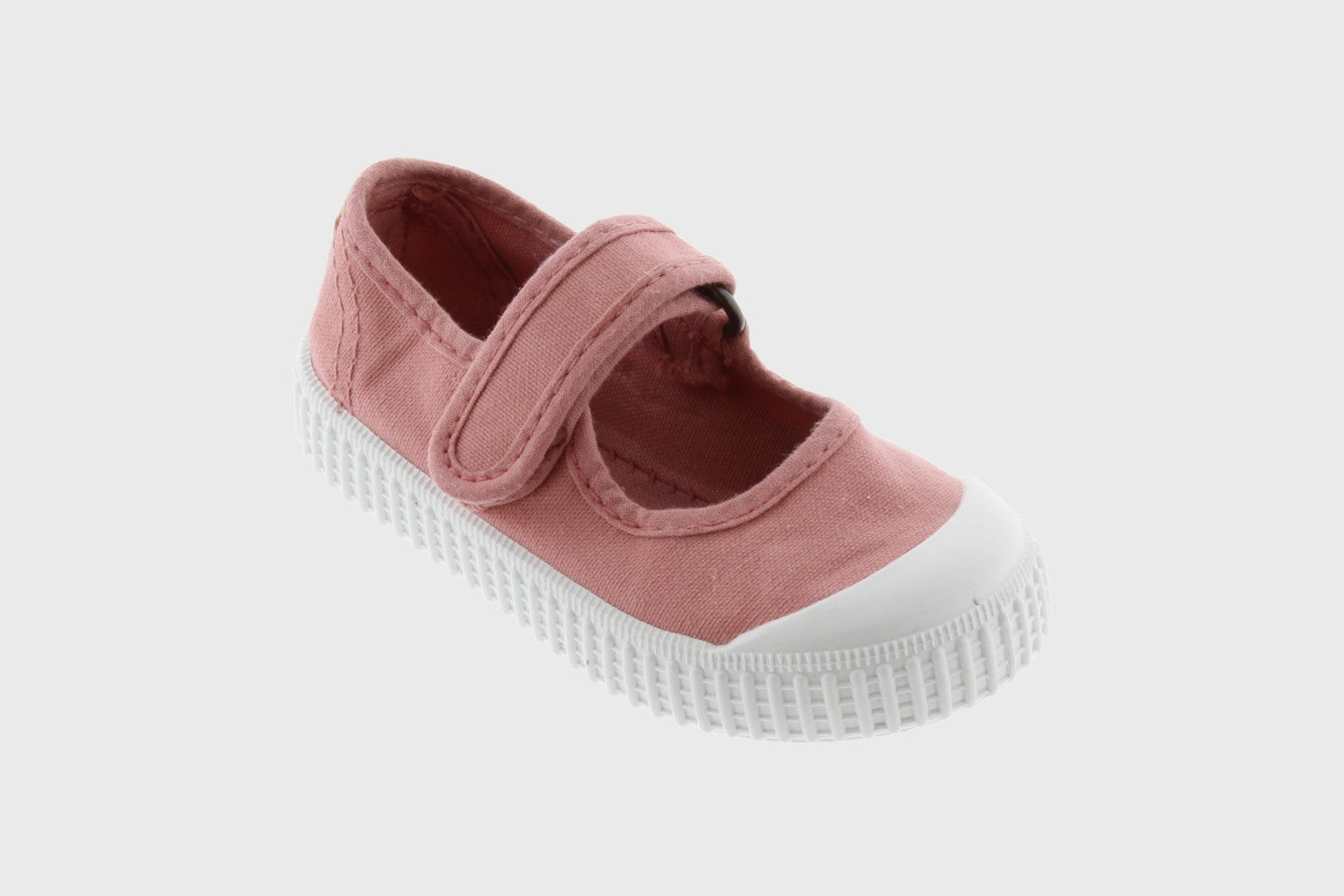 CANVAS STRAP MARY-JANES (Pink/Neutral)