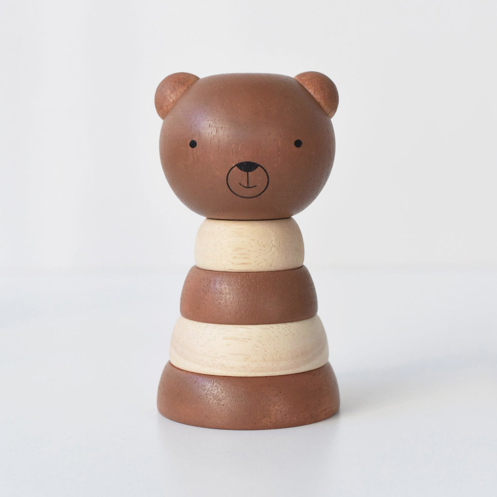 Wee Gallery - Wood Stacker - Bear -  Little Pair