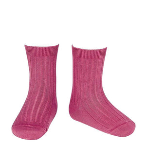 Carmine Ankle Ribbed Socks
