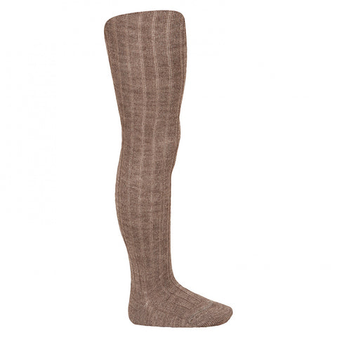 Rope Wool Ribbed Tights