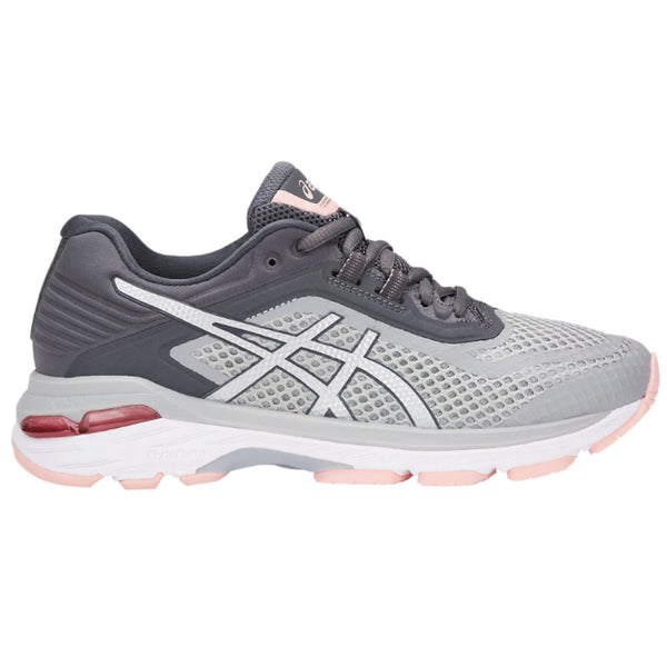 b9e593bd40 ASICS Womens GT-2000 6 Grey Silver Carbon Running Shoes (T855N.