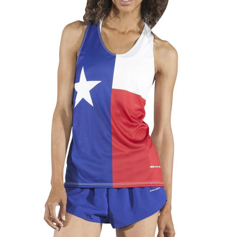 BOA Womens Interval Texas Flag Singlet (2045CP-STX)
