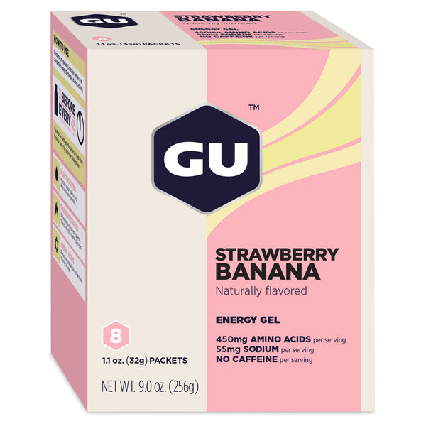 GU ENERGY Original Sports Nutrition Strawberry Banana 8-Pack Energy Gel (123036)