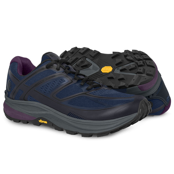TOPO ATHLETIC Womens Ultraventure Navy/Plum Running Shoe (W028-NAVPLU)